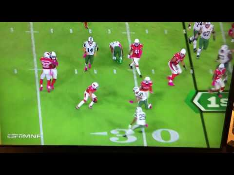 Charone Peake (NY Jets) gets beheaded against Arizona Cardinals