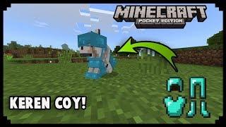 Cara Memasang Armor Ke Wolf/Anjing Kalian Di Minecraft PE | MCPE Tutorial
