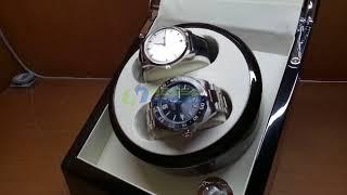 Automatic Watch Winder Pemutar Jam Otomatis 2 Slots High Quality