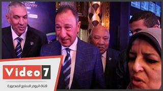 وزير الرياضة والخطيب يصلان قصر محمد على لحضور قرعة مونديال السلة