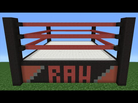 Minecraft Tutorial: How To Make A WWE Wrestling Ring
