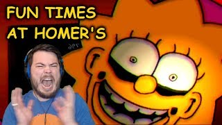 FNAF SIMPSONS ANIMATRONICS ARE BACK!! | Fun Times at Homers (Nights 3 and 4)