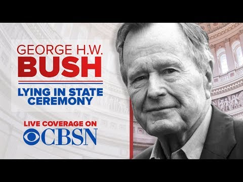 Full Ceremony: George H.W. Bush lies in state for Capitol Rotunda Service in Washington, DC