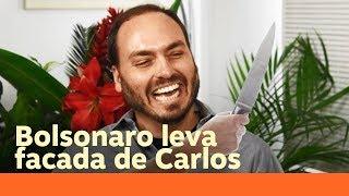 Bolsonaro Leva Uma Facada Do Seu Filho Carlos No Hospital