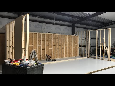 Shop Update-Interior Room And Walls In Metal Building