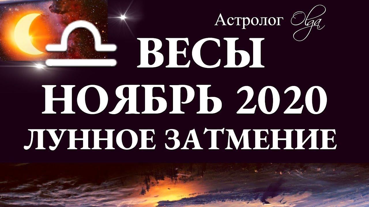 ВЕСЫ – НОЯБРЬ 2020 – ЛУННОЕ ЗАТМЕНИЕ в 9 доме. Астролог Olga