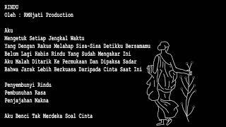 Gambar cover PUISI RINDU  RMHjati Production