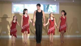 Samba Dance Lesson - How to do the basic Samba walk in step