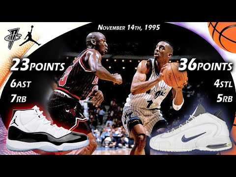 Penny Hardaway VS Michael Jordan Face-off November 14th 1995
