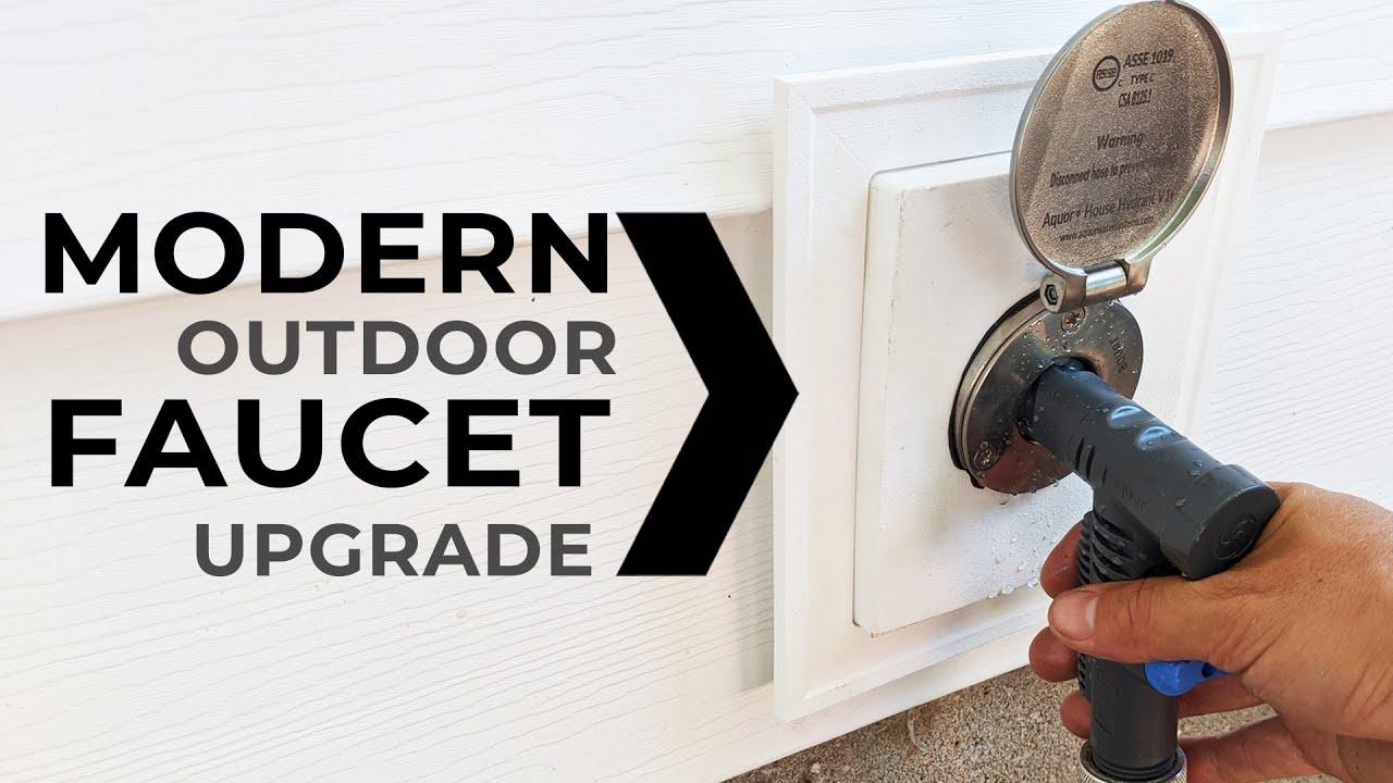 how to upgrade to a modern water spigot outdoor garden faucet