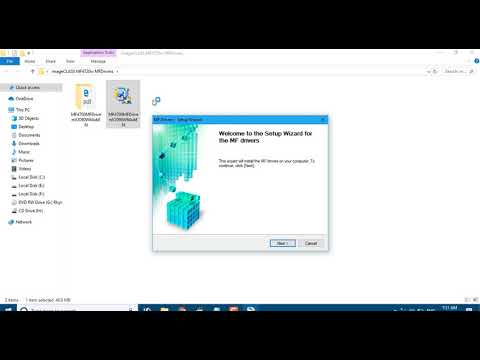 How To Install ImageCLASS MF4720w MFDrivers