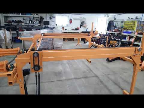 RR102 Hydraulic Log Table with hydraulic chain advance