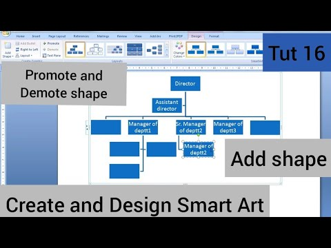 16 Ms Word Create And Design Smart Art Hindi