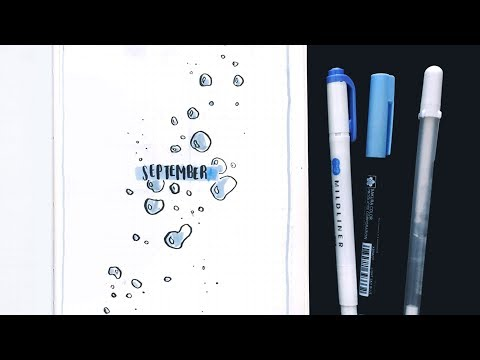 September Bullet Journal Plan With Me // bubbles theme