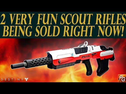 Destiny: 2 Very Fun Scout Rifles Being Sold Right Now! Give These A Shot!