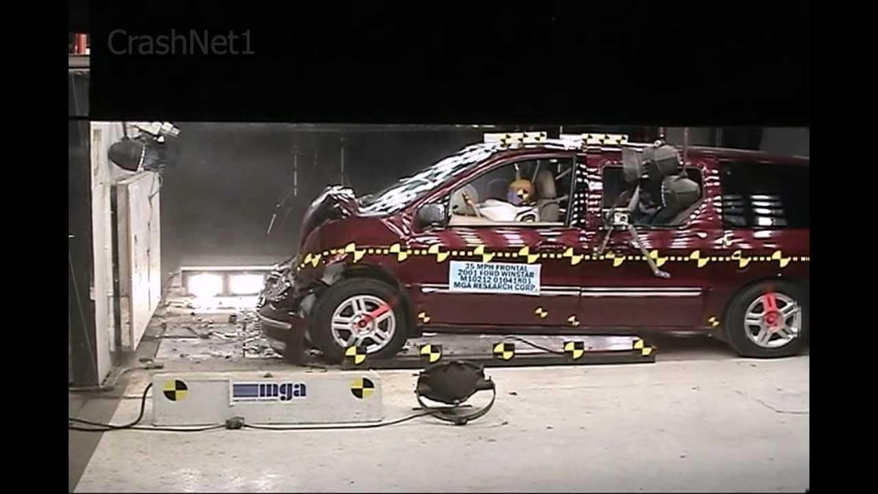 ford windstar 2001 frontal crash test nhtsa crashnet1 youtube. Black Bedroom Furniture Sets. Home Design Ideas