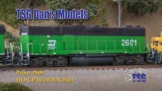 ho scale dcc bn gp38 2b amazing kitbash dan s models