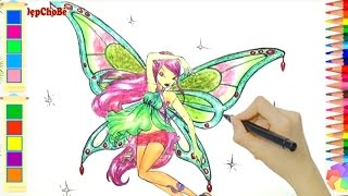 Cách Vẽ Roxy Trong Winx Club - How to draw Roxy