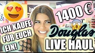 1400 € DOUGLAS LIVE HAUL+ IHR bestimmt den EINKAUF!!