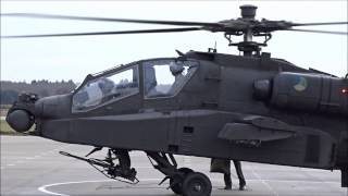 Extremely Close Apache RNLAF AH-64 Start-Up And Take-Off