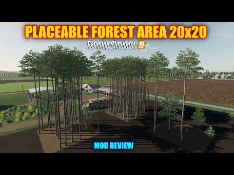 "Placeable Forest Area V1.0 ""Mod Review"" Farming Simulator 19"