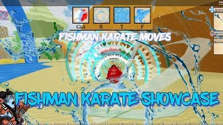 Fishman Karate Showcase   Roblox Ro-Piece