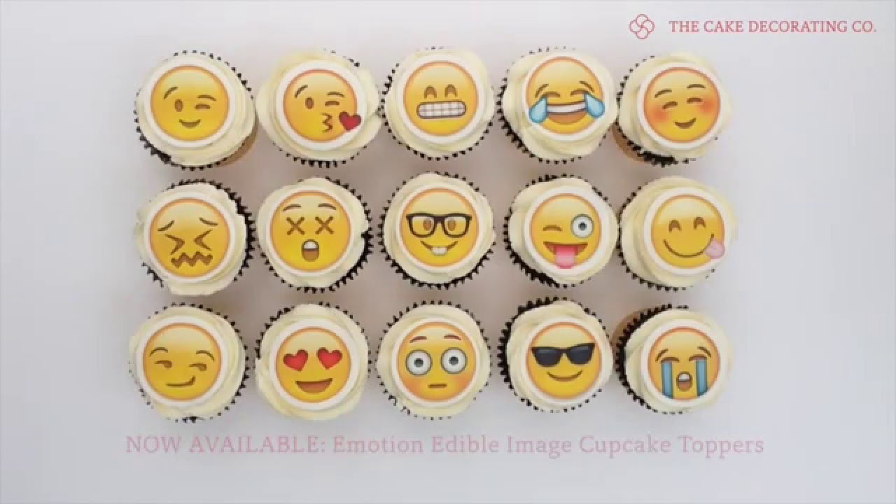 Emoji Edible Image Cupcake Toppers