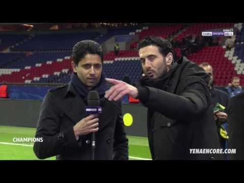 La réaction de Nasser Al-Khelaïfi - PSG VS BARCA [4-0]