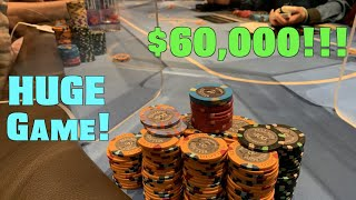 Ready For Nosebleeds?!! $60,000 On My Left, I'll Just Keep Hitting Sets Or Better! Poker Vlog Ep 158