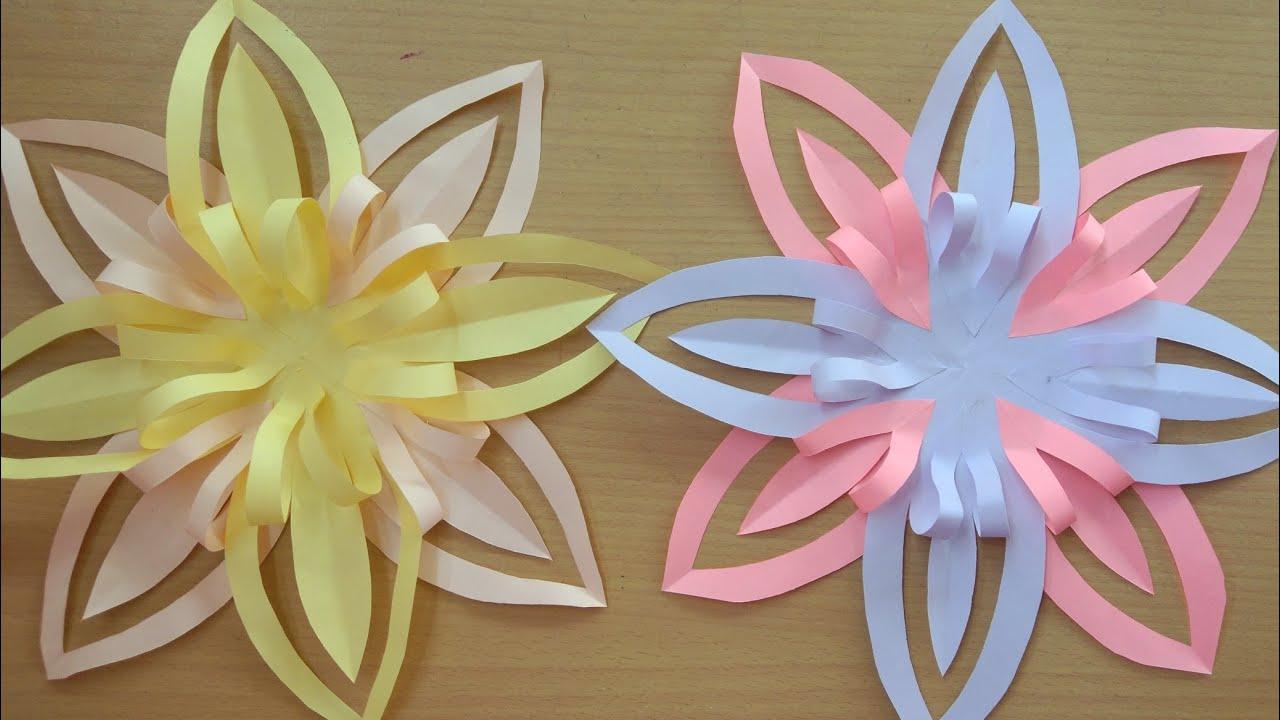 Cara Mudah Membuat Hiasan Dinding Cantik Dari Kertas
