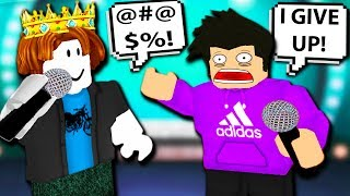 BACON KING SCARED HIM OFF THE STAGE! FUNNIEST RAP BATTLES! Roblox Auto Rap Battles 2 | Funny Moments