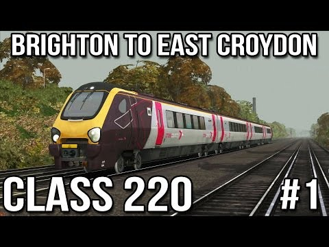 Brighton to Croydon Part #1 - Voyager Class 220 (Train Simulator 2014)