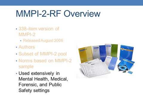 MMPI-2-RF: Basic Overview