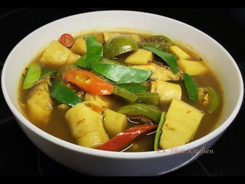 แกงไตปลา Gaeng Tai Pla (Southern Thai Recipe).