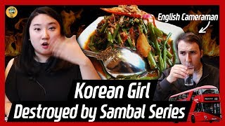 Korean girl tried Kangkung Sambal belacan..! ㅣ Ep.3 Jade's Malaysia foodtrip in London