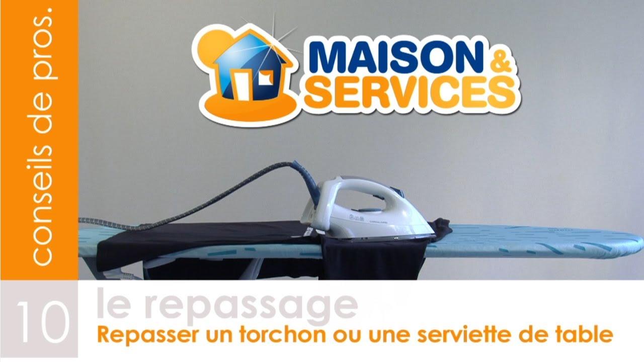 repasser et plier un torchon ou une serviette de table vid o n 10 youtube. Black Bedroom Furniture Sets. Home Design Ideas