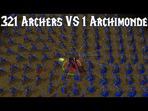 Archimonde VS 321 Night Elf Archers | Warcraft 3: Reforged