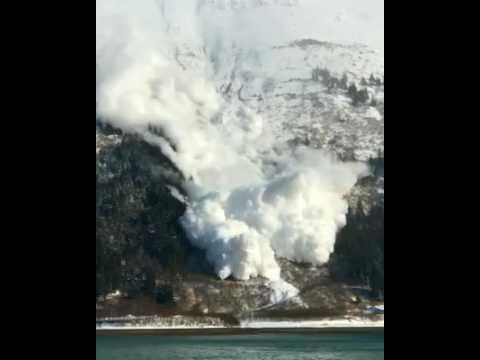 Avalanche caught on film in Juneau, Alaska via Pat Costello