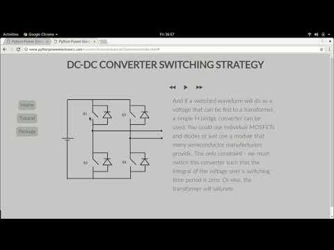 Dc-dc converter operation for extraction of power from a PV module