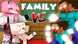 Monster School : EPIC FAMILY VS FAMILY CHALLENGE - Minecraft Animation