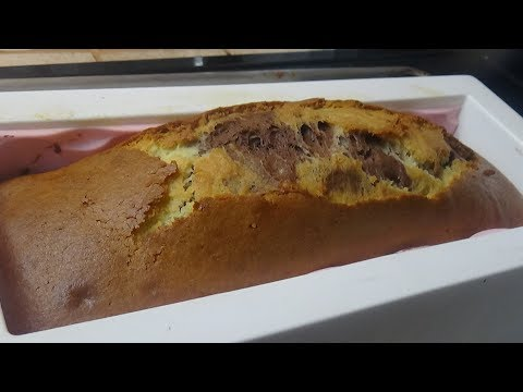 Cake Marbré/كيك ماربري نتاع  10ملاعق مصنوع ب 02 بيض
