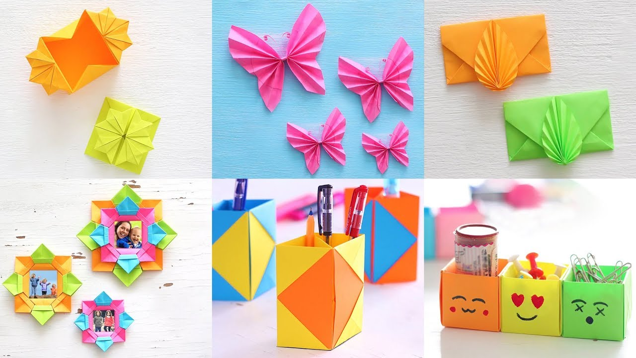6 Best Paper Crafts Diy Paper Craft Ventuno Art Youtube
