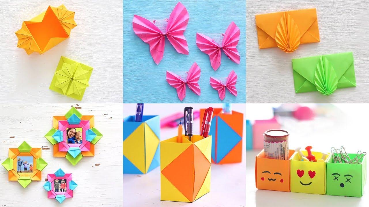 6 Best Paper Crafts Diy Paper Craft Ventuno Art Youtube