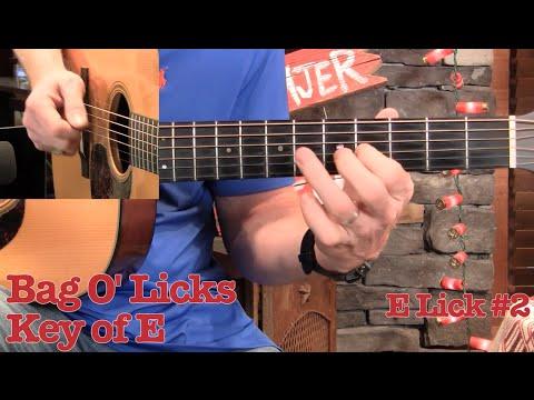 Bag O' Licks for Guitar– Key of E!