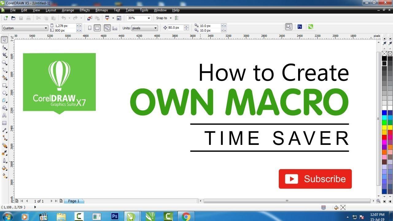 How to Create Own Macro in Coreldraw - Shashi Rahi