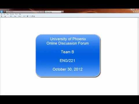 How to Access the University of Phoenix Discussion Forum