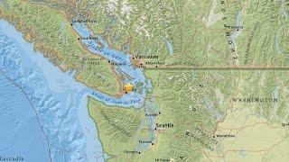 Earthquake Shakes Vancouver BC, Magnitude 4.8
