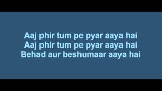 Aaj Phir Tumpe Pyar Aaya Hai Lyrics   Hate Story 2   Arijit Singh   Jay Bhanushali   Surveen Chawla