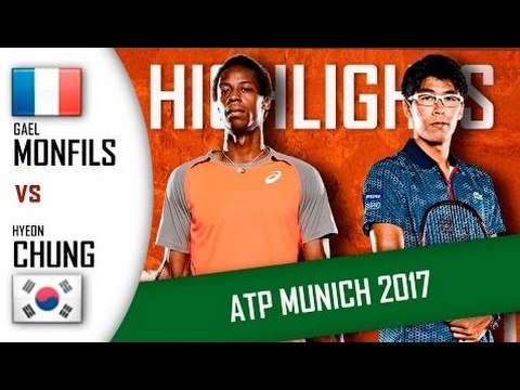Gael Monfils Vs Hyeon Chung Hd720P60 Highlights Atp 250 Munich 2017