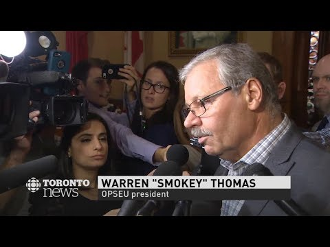 Ontario College Strike - Day 32 - Smokey Thomas disgusted with Bill passage process - November 2017